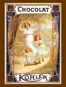 Kohler Chocolate vintage ad antiguo anuncio blog chocolate chocolandia