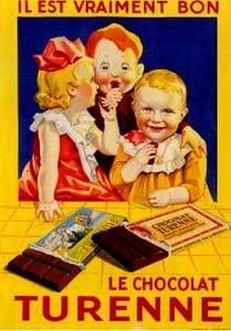 Turenne Chocolate vintage ad antiguo anuncio blog chocolate chocolandia