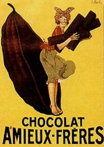 amieux freres  Chocolate vintage ad antiguo anuncio blog chocolate chocolandia