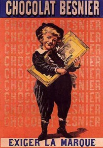 Besnier Chocolate vintage ad antiguo anuncio blog chocolate chocolandia