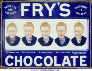 Frys Chocolate vintage ad antiguo anuncio blog chocolate chocolandia