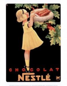 Nestle Chocolate vintage ad antiguo anuncio blog chocolate chocolandia