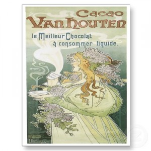 Vanhouten Chocolate vintage ad antiguo anuncio blog chocolate chocolandia