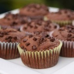 Muffins de chocolate con pepitas
