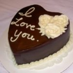 Tarta de chocolate para San Valentin